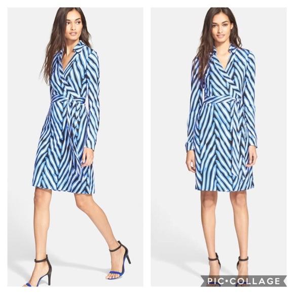 8d39374c3176b Diane Von Furstenberg Dresses | Dvf New Jeanne Two Jersey Wrap Dress ...